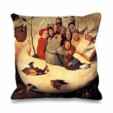 Hieronymus Bosch Concert in the Egg Faux Silk 45cm x 45cm Sofa Cushion