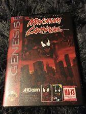 Maximum Carnage SEGA Mega Drive USA Version - Custom Game - Grade AAA+++