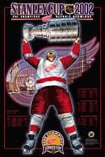 Detroit Red Wings STANLEY CUP 2002 Official NHL Hockey Commemorative POSTER