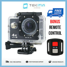 TEKcam 4K Waterproof WI-FI Sports Action Camera Cam + Gopro Go Pro Fit Mounts