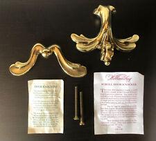 Polished Brass Doorknocker Va Metalcrafters Williamsburg hand-finished