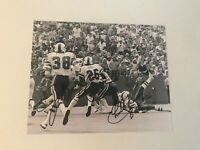 BUFFALO BILLS SIGNED GAME ACTION BW PHOTO 8 X 10 JEFF NIXON CHARLES ROMES