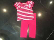 Juicy Couture New Pink & White CottonT.Shirt & Leggings Baby Girl  6 / 12 Month