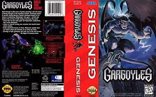 GARGOYLES Sega Genesis NTSC remplacement Box Art Case Insert Cover scan Reproduct