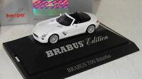 Herpa Mercedes-Benz BRABUS 700 Biturbo SLS Roadster weiß PC+OVP 1:87 (1_2_J)
