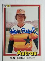 1981 Donruss Ken Forsch Auto Autograph Card Houston Astros Signed #141