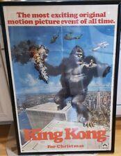 1976 King Kong Advance One Sheet Original Movie Poster Vintage 41x27 signed
