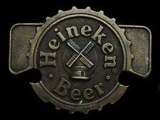 MI25152 COOL VINTAGE 1970s **HEINEKEN BEER** BELT BUCKLE