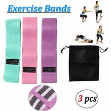 Workout Resistance Bands Loop Set CrossFit Fitness Yoga Leg Exercise Band 3pcs