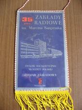 Polen: großer Wimpel, Warschau 1986, 35 Jahre ZAK, gute Qualität