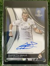 2016 Topps UCL UEFA Champions League GARETH BALE Auto /50 Real Madrid