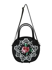 IRON FIST Borsa da donna rosa/Teschi Anello intorno a una borsetta di Rosy