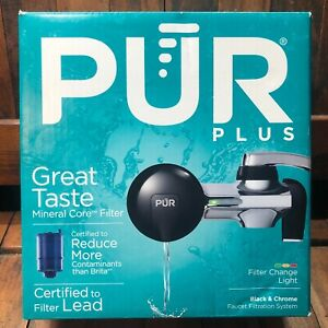 PUR Faucet Water Filter Mount, PFM200B, Black and Chrome- Complete