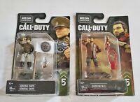 Mega Construx Call Of Duty Diego Necalli & General Davis lot NEW!
