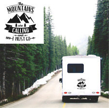 Caravan Sticker The Mountains Are Calling Motorhome Camper Truck Van Vinyl Decal