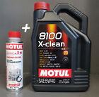 1 x 5 Litros MOTUL ACEITE DE MOTOR 5w40 8100 X-CLEAN C3 + 1x motorsystemreiniger