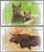 BRD 2913-2914 (kompl.Ausg.) postfrisch 2012 Heimische Wildtiere