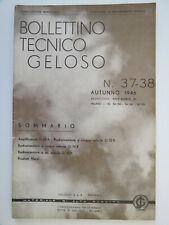 Bollettino Tecnico Geloso - Lotto di 12 numeri - dal n.37 al n.51 - 1946/1951