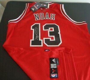 JOAKIM NOAH Chicago BULLS Basketball Swingman SIGNED Sewn ADIDAS Jersey XL New