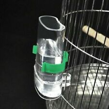 Automatic Pet Bird Acrylic Cage Water Food Feeder Parrot Cockatiel Canary Toy #S