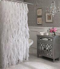 "Ronney Cascade Shabby Chic Ruffled Sheer Shower Curtain ,  70"" wide x 72"" Long"