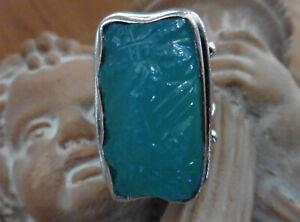 Barry Brinker Sterling 950 Carved Ring