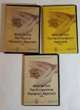 Rare Lot of 3  Exploring Hand Therapy Video Courses  DVD Wrist Secrets see pics.