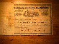 #180  1905 Seneca Mining Company Mining Stock Certificate