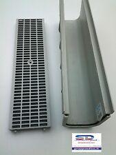CANALETTA CANALE DI SCOLO COMPONIBILE C/GRIGLIA ANTITACCO PVC MODULARE 13X14X50