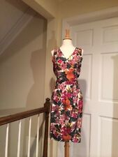 Gorgeous Silk Floral Wrap Skirt & Top Pink, Purple, Green, Gold, Cream Size 6/8
