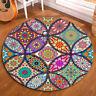Round Floor Mat Bedroom Carpet Living Room Area Rugs Abstract Mandala Flower