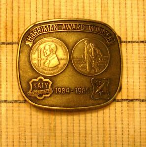 MISSOURI-KANSAS-TEXAS RAILROAD 1984-85 HARRIMAN SAFETY AWARD WINNER BELT BUCKLE
