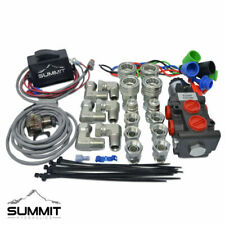 Summit Hydraulics Multiplier Diverter Solenoid Selector Valve with Rocker Switch and Ag Coupler Kit