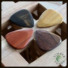 Timber Tones - Electric Guitar - Plectrums / Picks - Pack Of 4 Mixed Woods