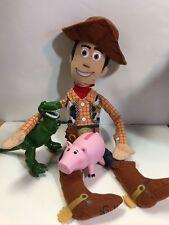 Bundle Toy Story Woody Plush Disney Pixar Sheriff Doll  SOFT  21 Inch, Pig Dino