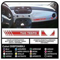 Adesivo CRUSCOTTO per FIAT 500 ABARTH sticker FIAT 500 plancia 500 tuning decal
