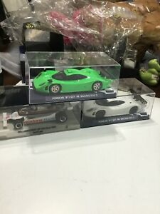 VINTAGE 3 PIECE FLY SLOT CAR GROUPING / GREEN PORSCHE / WHITE PORSCHE / NEW OLD!