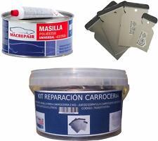Juego ESPATULA CARROCERO Plastico PLAINSUR Masilla para CARROCERIA CON Fibra 500 Gr