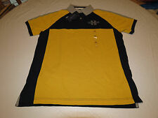 Mens Tommy Hilfiger Polo shirt NWT large 7880981 728 yellow grey Classic Fit NEW