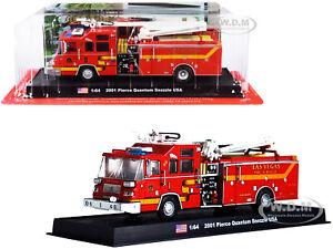 2001 PIERCE QUANTUM SNOZZLE LAS VEGAS FIRE & RESCUE DEPT RED 1/64 AMERCOM ACGB19