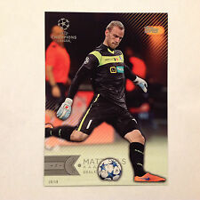 MATZ SELS #188 KAA GENT #ed/10 Made 2016 Topps Champions UEFA 5X7 GOLD