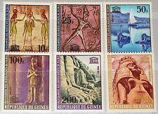 GUINEA 1964 259-64 350-54 C64 UNESCO preserve Nubian Monuments Denkmäler MNH