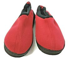 Unisex Slipper With memory Foam 11-12 Red Comfortable Cozy House Shoes Warm New