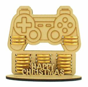 Boys Christmas Gaming Playstation MDF Advent Calendar Gift Fits Chocolate Coins