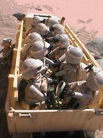 PLAYMOBIL CUSTOM LKW RC US M35 +FAHRER+ ZUG VON SOLDATEN (10) REF-001