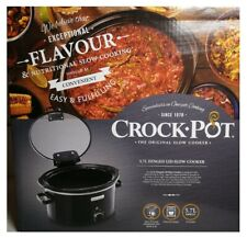 Crock-Pot CSC031 Slow Cooker with Hinged Lid, 5.7 Black Easy Clean 5-6 Person