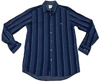 Lacoste Mens Size 40 Long Sleeve Button Up Striped Shirt