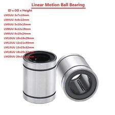 LM3/4/5/6/8/10/12/13/16/20UU Linear Motion Ball Bearing Machinery Slide Bushing