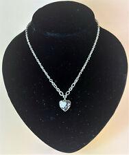 Guess Damen-Halskette Edelstahl mit Herzanhänger 45-48 cm variabel UBN12010
