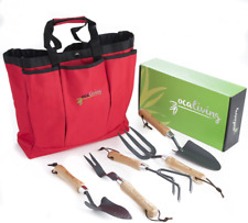 Ocaliving Gorgeous, 6-Piece Garden Hand Tool Set inc. Cherry Red, Weather-Resist
